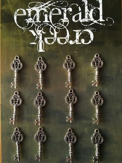 Metal Key Charm 12/pkg