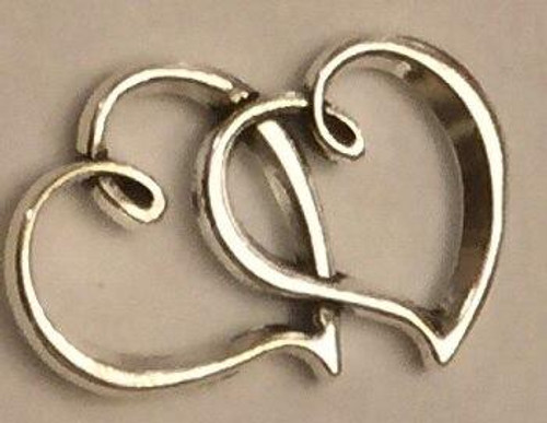 Linked Hearts Charms 6/pkg