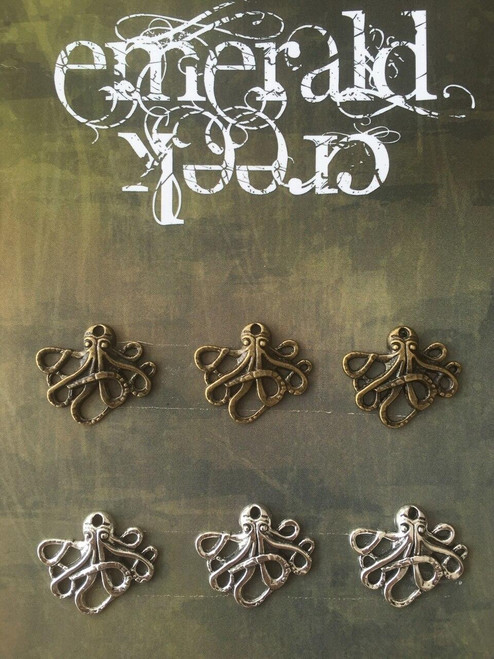 Octopus Charms 6/pkg