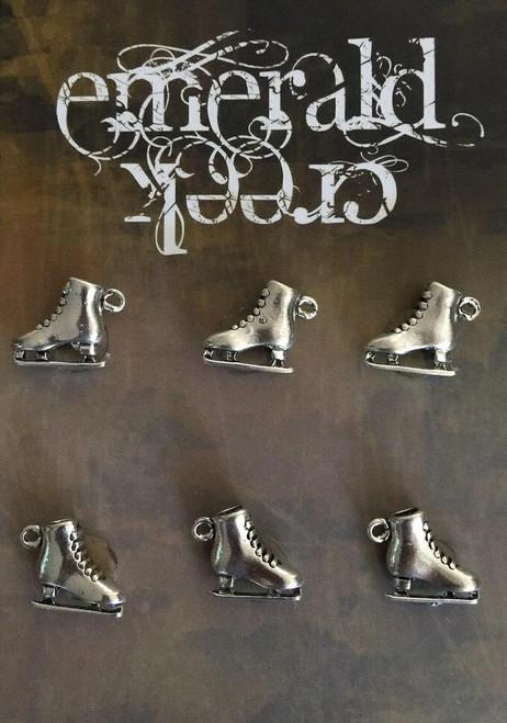 Vintage Ice Skate Charm 6/pkg