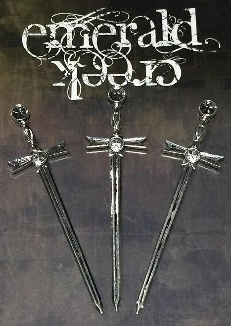 Vintage Sword Charm 3/pkg