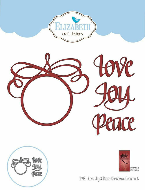 Quietfire Love Joy Peace Christmas Ornament - Thinlet Die