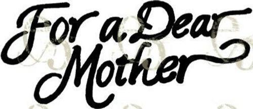 Pam Bray Designs Dear Mother - Digital