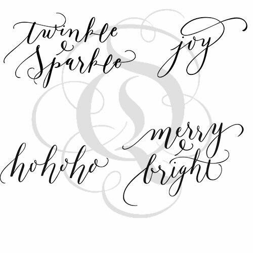 Quietfire Bright Holiday Words - Set of 4