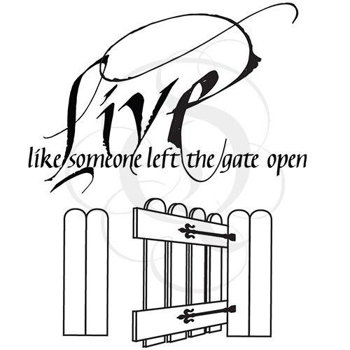 Quietfire Live Like Someone Left the Gate Open - Set of 2