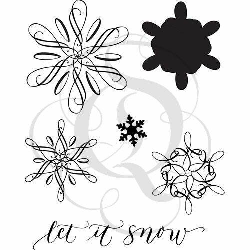 Quietfire Let It Snow Flourished Snowflakes - Set of 6