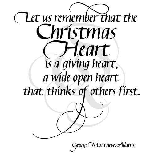Quietfire Let Us Remember that the Christmas Heart
