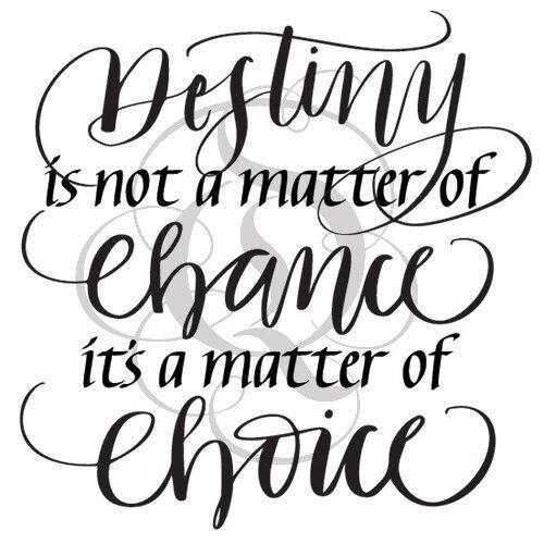 Quietfire Destiny is not a Matter of Chance