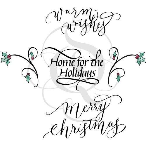 Quietfire Home for the Holidays Sentiments - Set of 5