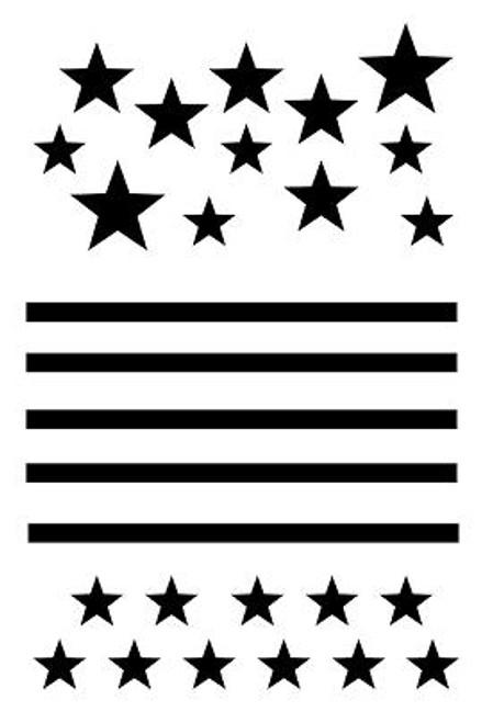 Pam Bray Designs Stars and Stripes Stencil - Pam Bray