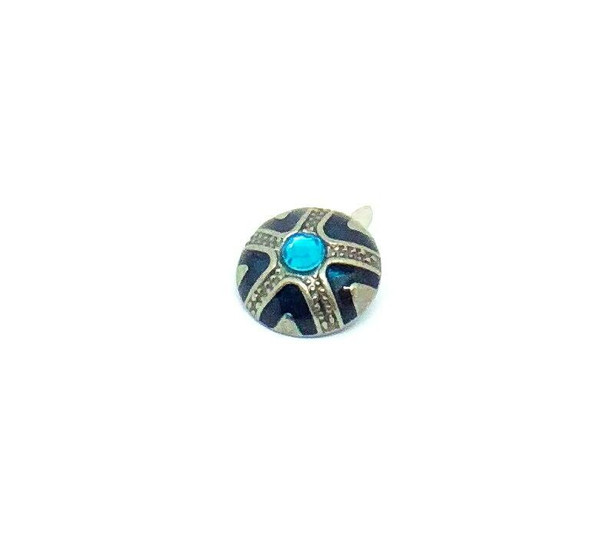 Silver with Blue Jewelled Brad - 12/pkg