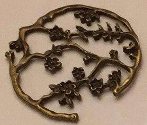 Filigree Cherry Blossoms Charm 3/pkg