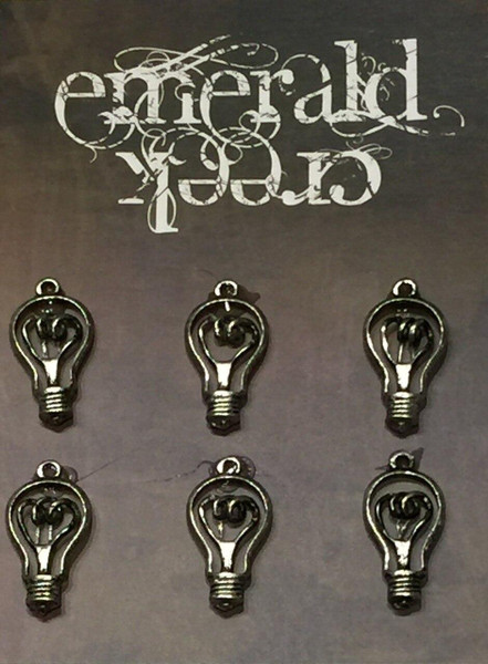 Edison Bulb Charm 6/pkg
