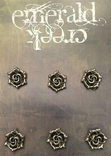 Rose Charm 6/pkg