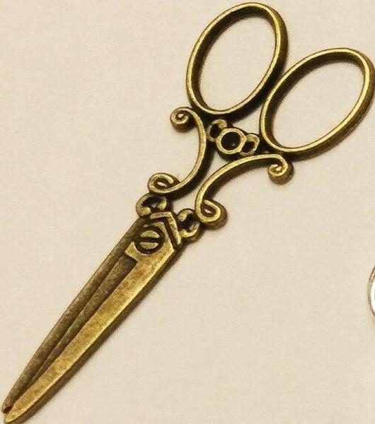 Vintage Scissor Charm 6/pkg