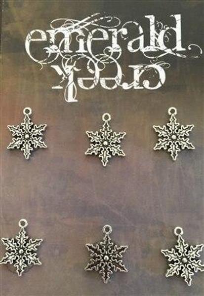Vintage Snowflake Snowflake Charm 6/pkg