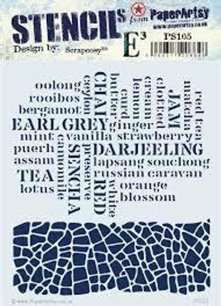 PaperArtsy - Stencil 105 - Scrapcosy