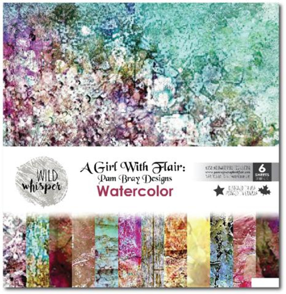 Pam Bray - Watercolor 12x12 Paper Pack