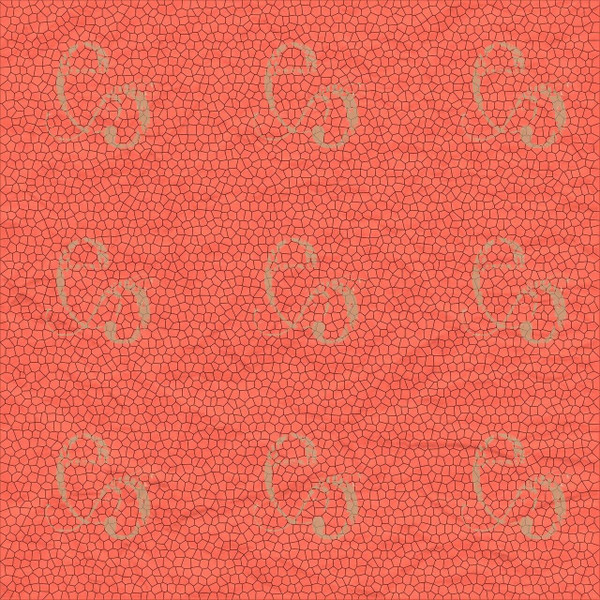 Pam Bray Designs Salmon Crinkle Abstract Paper - Pam Bray 2020