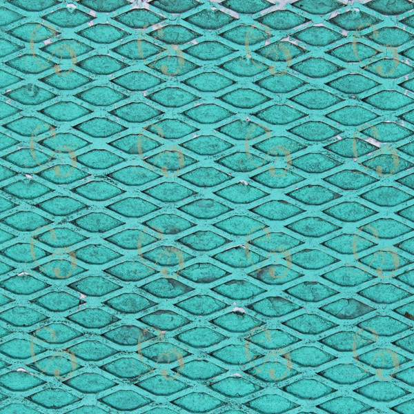 Pam Bray Designs Teal Metal Grille Paper - Pam Bray 2020