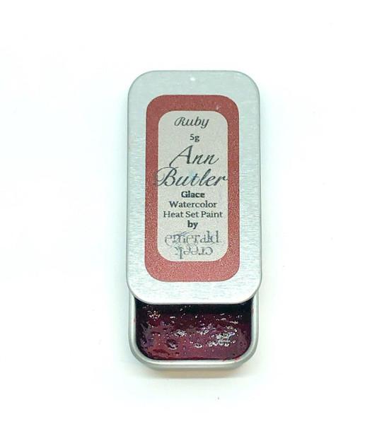 Ann Butler Designs Glace Ruby - Heatset Watercolours by Ann Butler