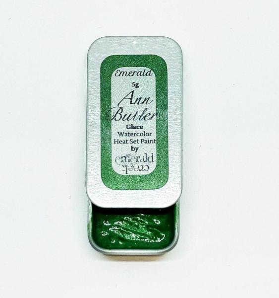 Ann Butler Designs Glace Emerald - Heatset Watercolours by Ann Butler