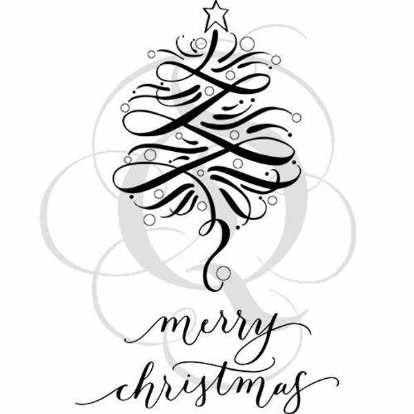 Quietfire Merry Christmas Flourished Tree - Set of 3