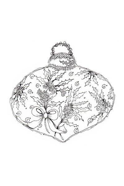 Pam Bray Designs Holly Leaves Christmas Ornament - Pam Bray
