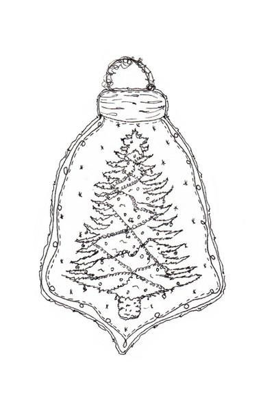 Pam Bray Designs O Christmas Tree Christmas Ornament - Pam Bray