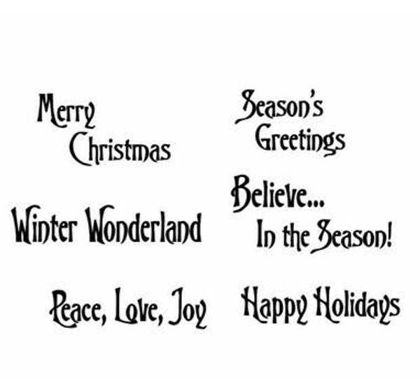 Pam Bray Designs Holiday Sentiments - Pam Bray