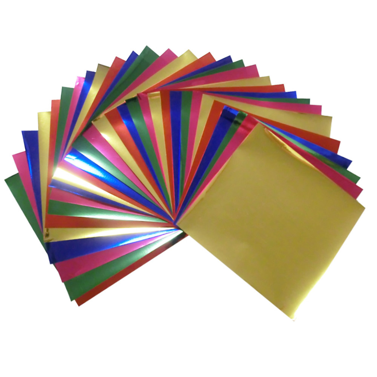 - 7.9x7.9inches Large Foil Color Origami Folding Paper, Metallic