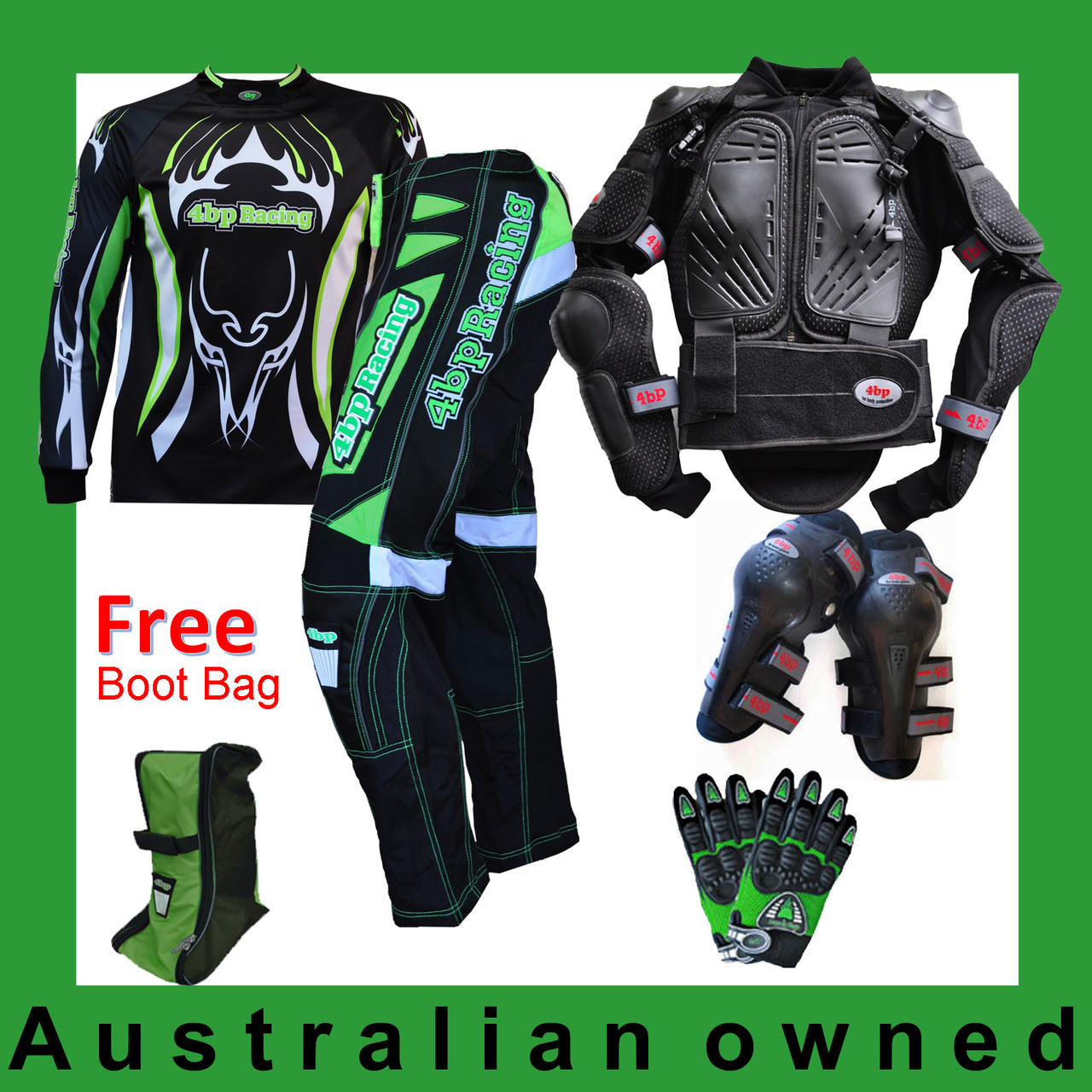 Adult Special Pack: Armour,Pants,Jersey,Gloves,Knee + Free Bootbag