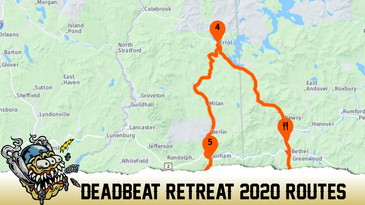 Deadbeat Retreat Routes for 2020