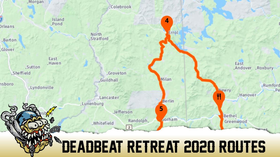 Deadbeat Retreat Routes for 2020
