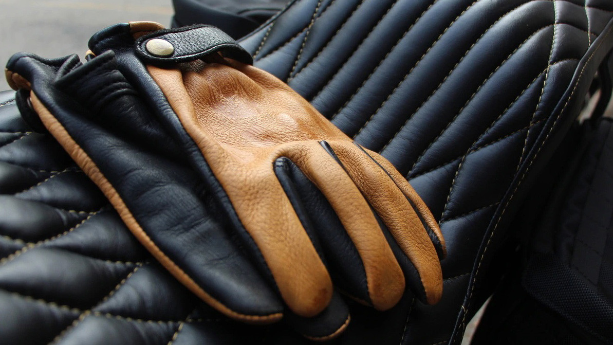 Deadbeat Customs Deerskin & Bison Riding Gloves