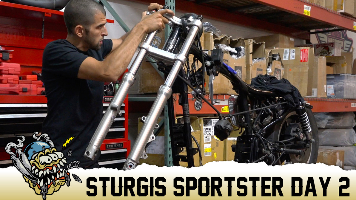 Sturgis Sportster Day 2, 6 Over Fork Tube Install