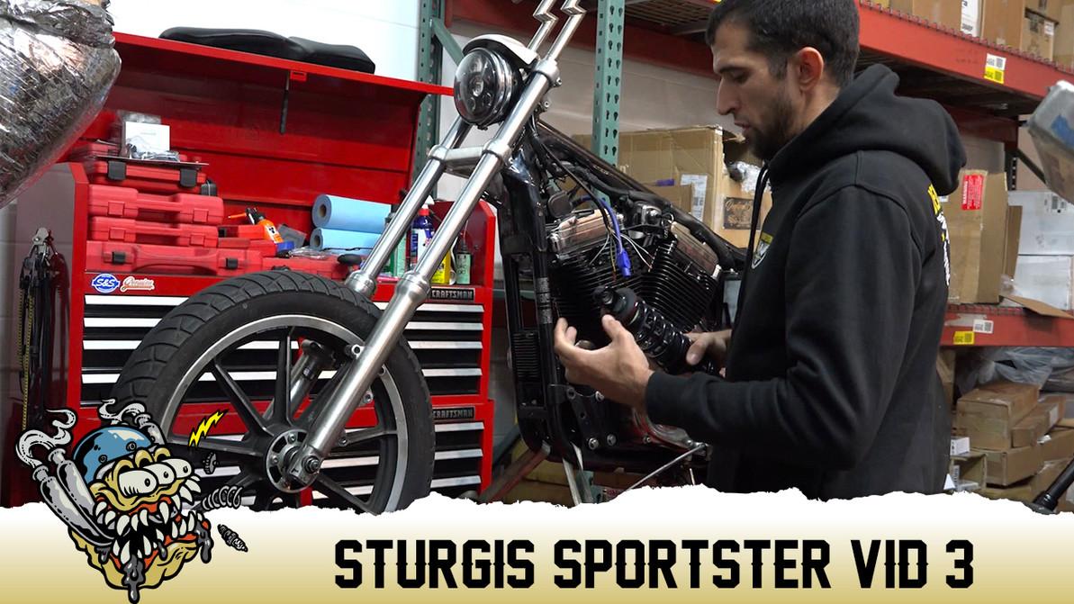 "Sturgis Sportster Part 3, Progressive 490 14"" Shock Install"