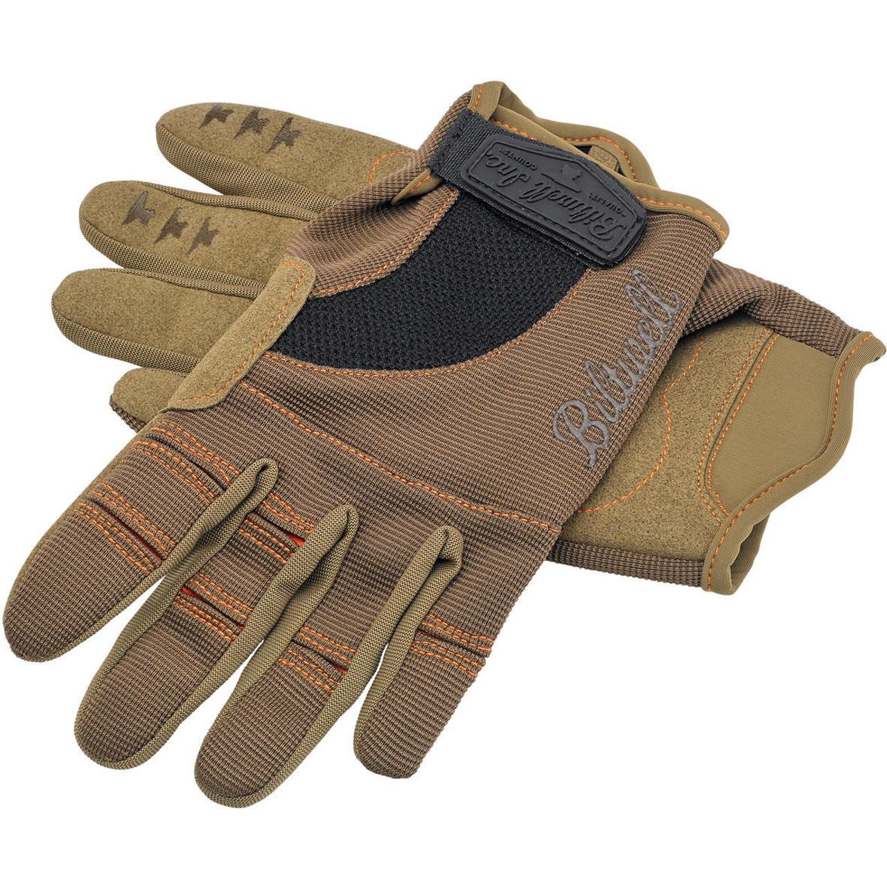Biltwell Brown//Orange Moto Gloves Size Large