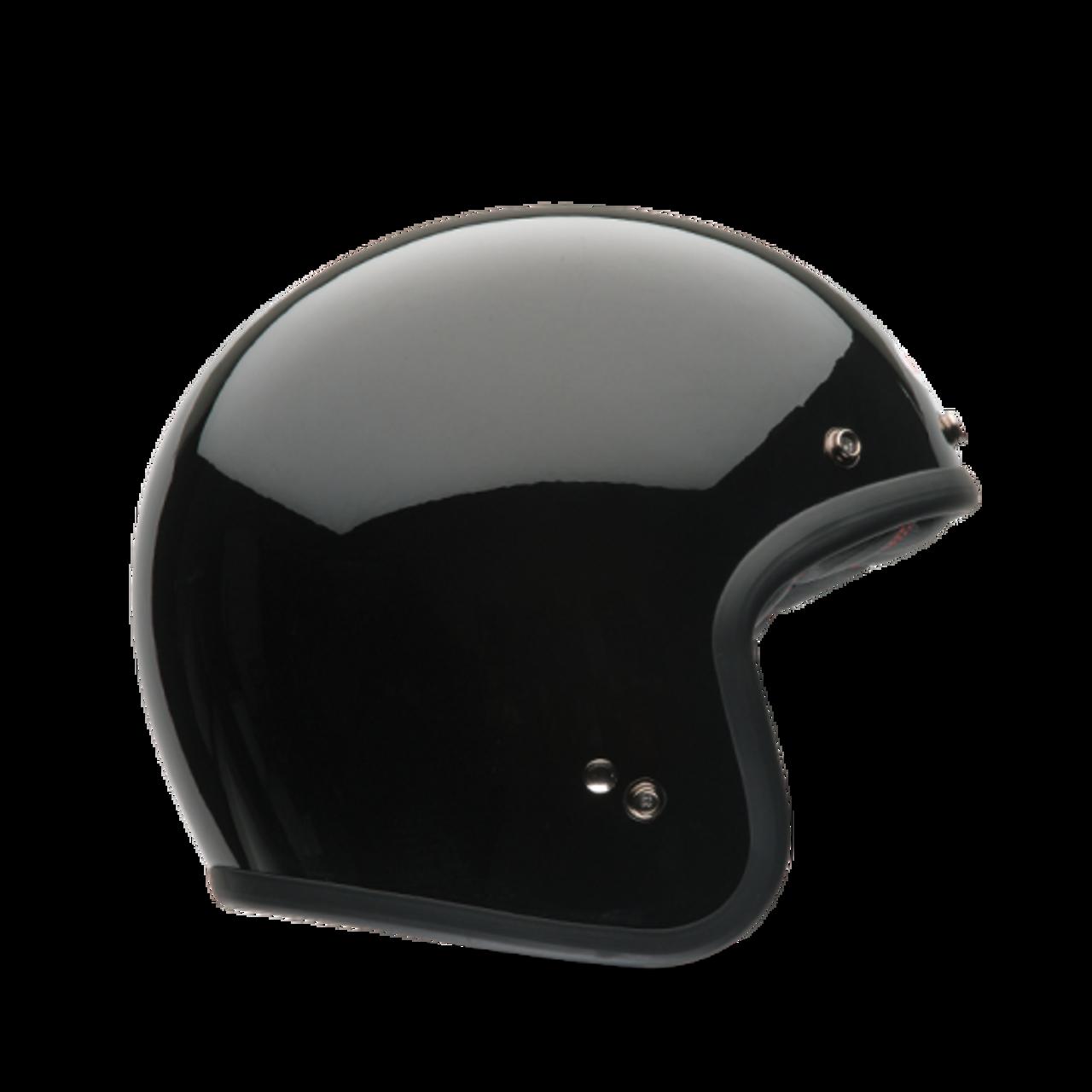 CLEARANCE SALEBell Custom 500 Motorcycle Helmet EU520 3 Snap Visor Black