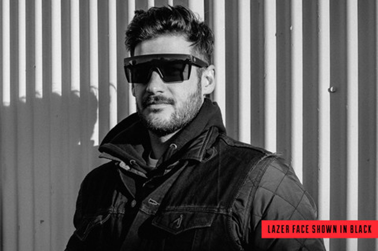e9d2aaa1295 HeatWave Visual Lazer Face Sunglasses Black Lens