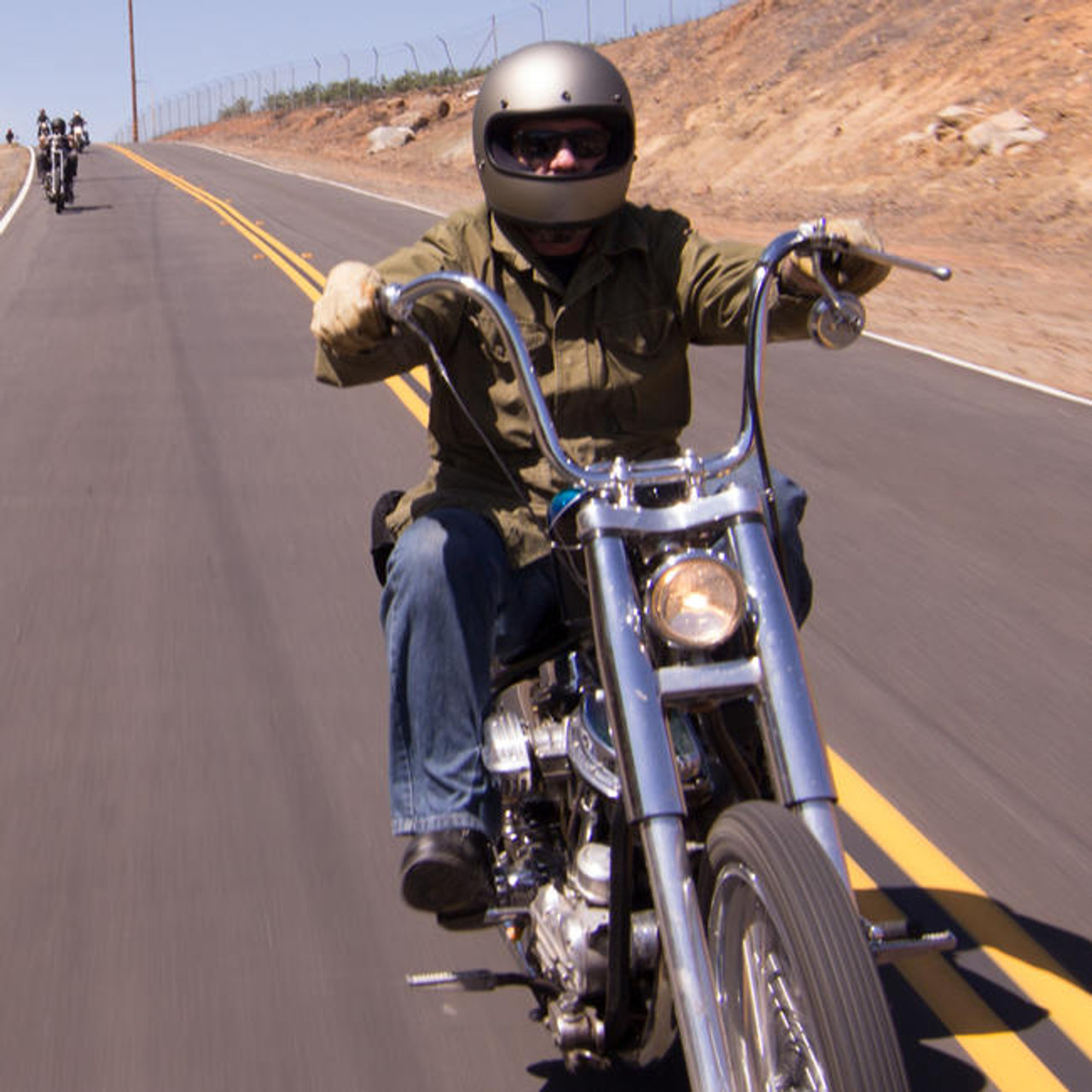 Biltwell Flyer Motorcycle Handlebar Dimpled