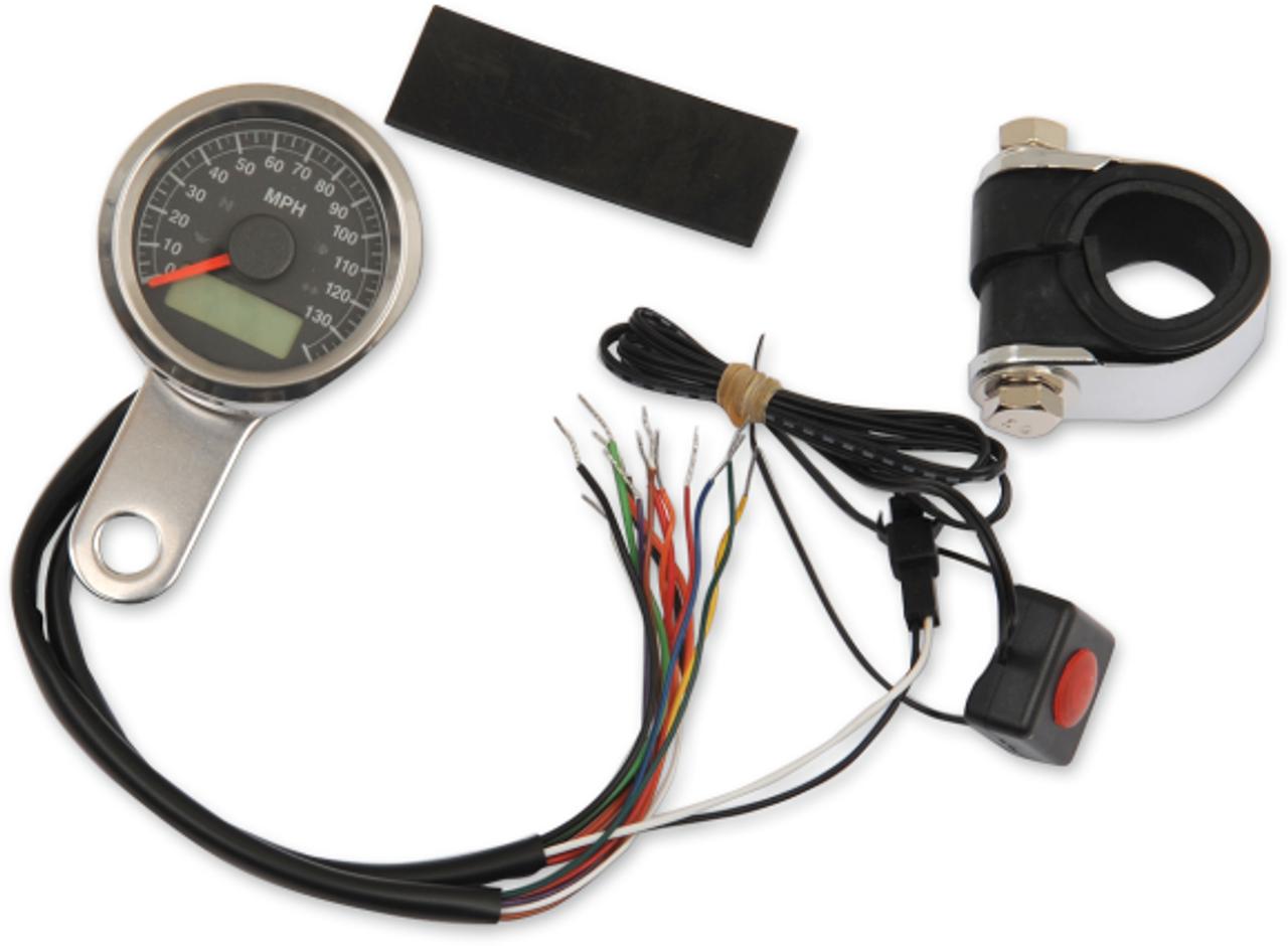 Digital Mini Speedometer and Tachometer fits Harley-Davidson