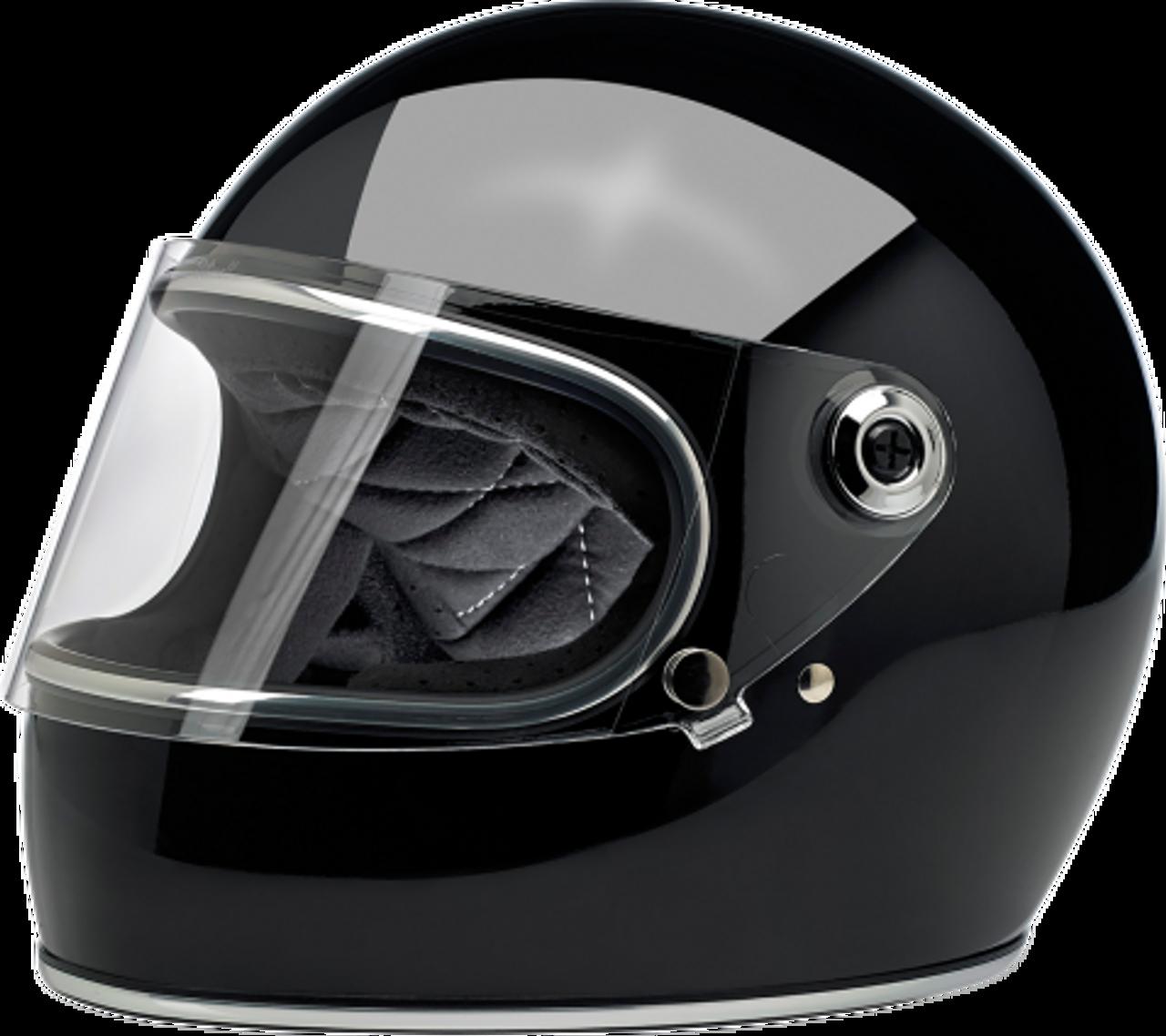 Biltwell Gringo Full Face Helmet Flat Black, Large