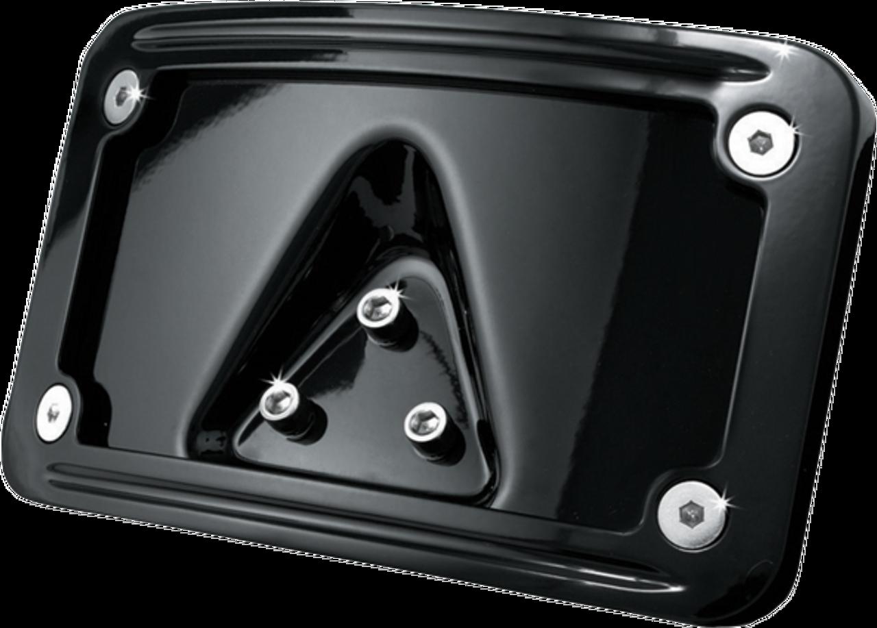 Black License Plate Number Mount Frame Bracket Laydown for Harley Sportster