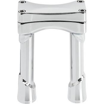 "Biltwell Oversize Murdock Risers fits 1-1/8"" Handlebars - Chrome"