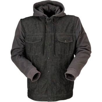 Z1R Denim Hoodie - Black/Grey
