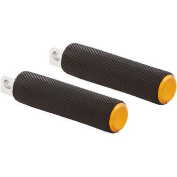 Arlen Ness Knurled Fusion Footpegs - Gold