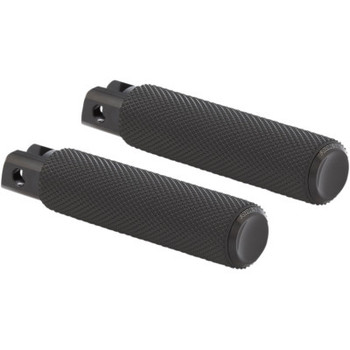 Arlen Ness Knurled Fusion Footpegs - Black - fits M8 Softail/ELW Footpegs