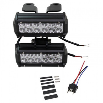 TC Bros. Scrambler LED Headlight Kit for Harley Davidson - Dual