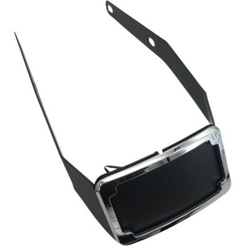 Cycle Visions Curved License Plate Frame and Mount with License Plate Light fits Harley FLSB